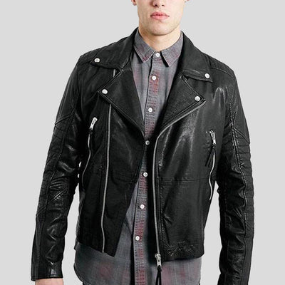 biker leather jacket kaiden black 1