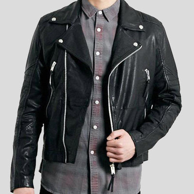 biker leather jacket kaiden black 3