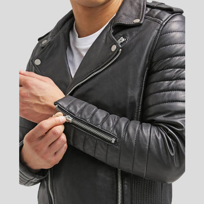 biker leather jacket messiah black 5