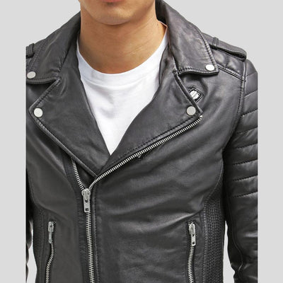 biker leather jacket messiah black 3
