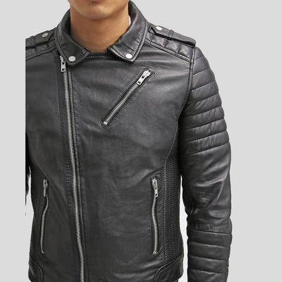 biker leather jacket messiah black 6
