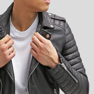 biker leather jacket messiah black 4
