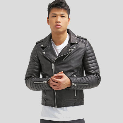 biker leather jacket messiah black 1