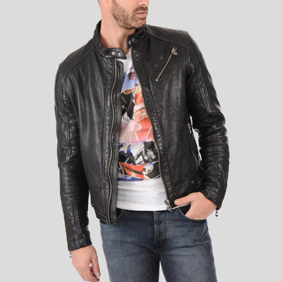 biker leather jacket rhett black 1