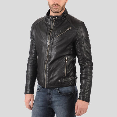 biker leather jacket rhett black 2