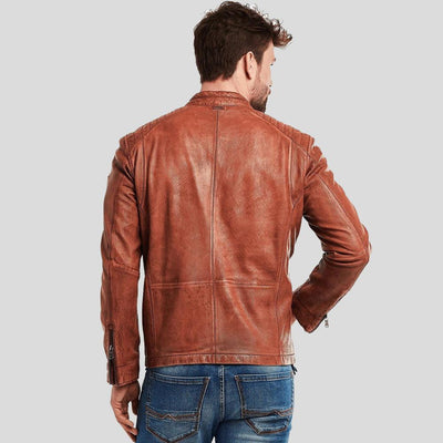 biker leather jacket ryker brown 3