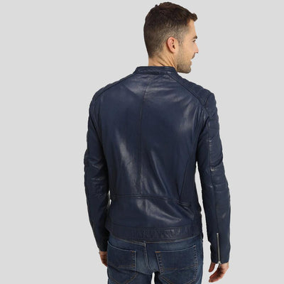 biker leather jacket black hunter 3