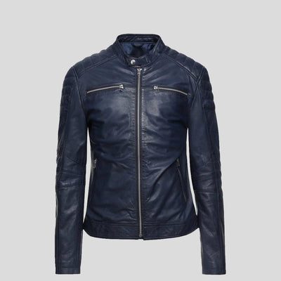 biker leather jacket black hunter 5