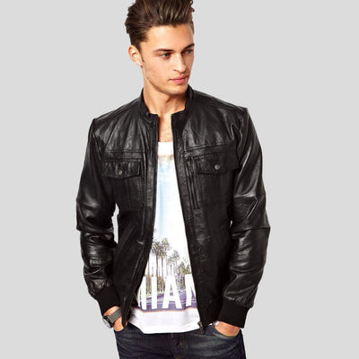 black bomber jacket jameson black 1