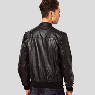 black bomber jacket jameson black 2