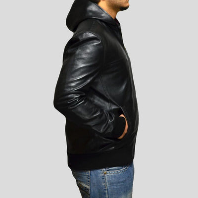 black bomber leather jacket brian mens 2