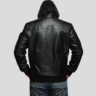 black bomber leather jacket brian mens 4