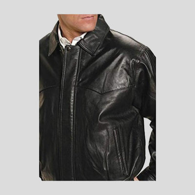 black brown bomber leather jacket patrick mens 2