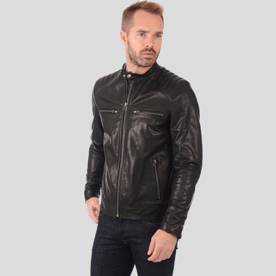 black motorcycle jacket antonio 2