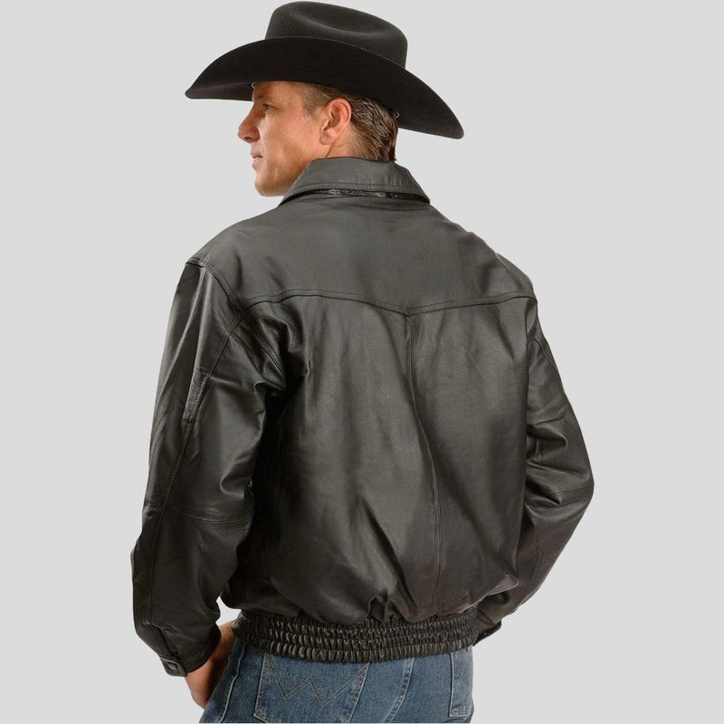 black bomber leather jacket benjamin mens 1