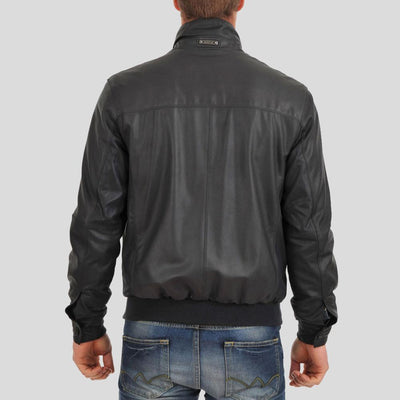 bomber leather jacket ashton black 2