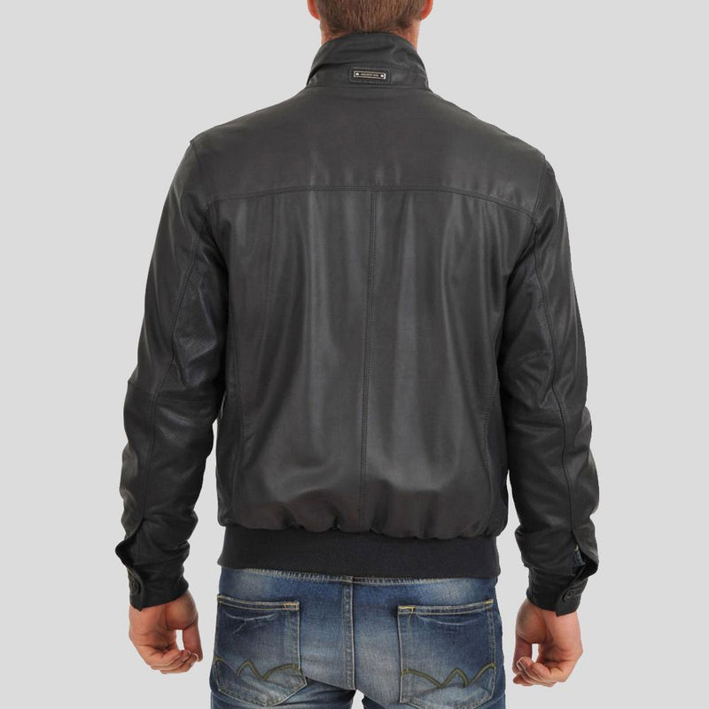 bomber leather jacket ashton black 1