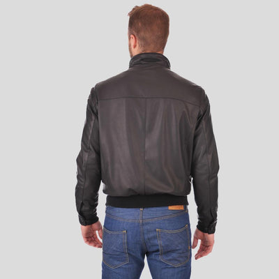 bomber leather jacket brody black 2