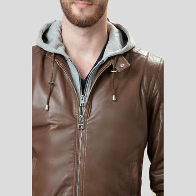 bomber leather jacket bryson brown 1