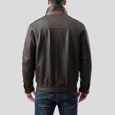 brown bomber leather jacket jesse mens 2