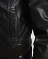 easton chet black hooded leather jacket 3
