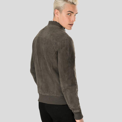 grey suede bomber leather jacket jude mens 3