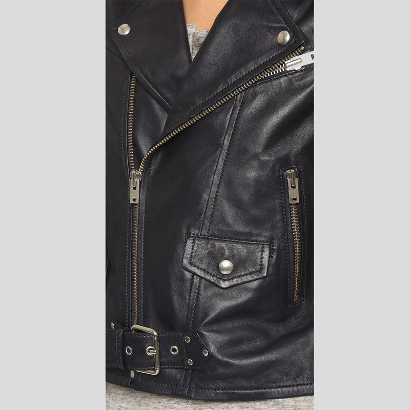 kora back biker leather jacket 1