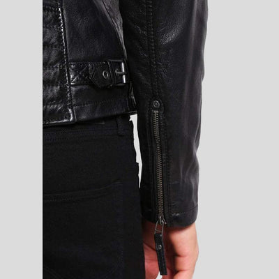 mens black leather racer jacket marcus 3