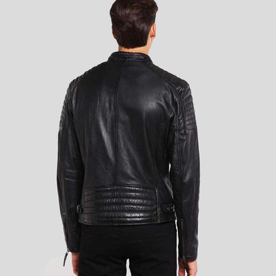 mens black leather racer jacket marcus 4