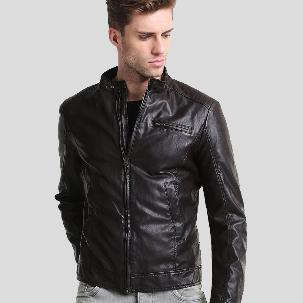 William Black Leather Racer Jacket 1