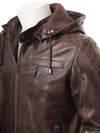 erick brown removable hooded leather jacket 3