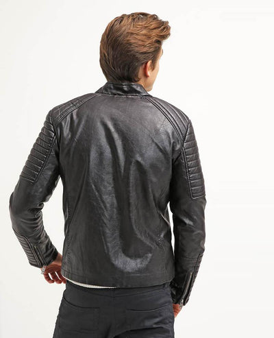 jayceon black quilted leather jacket 3