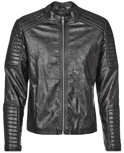 jayceon black quilted leather jacket 4