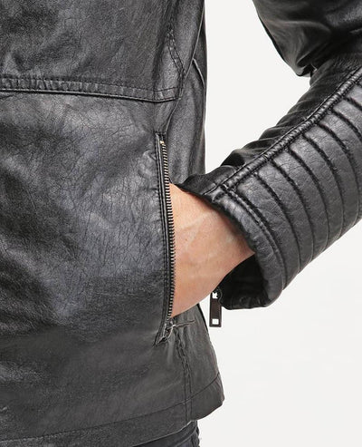 jayceon black quilted leather jacket 7
