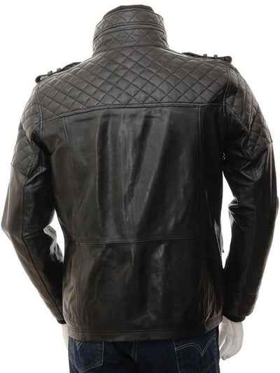 knox  black quilted leather jacket 4