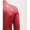 milo red quilted leather jacket 2