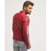 milo red quilted leather jacket 7