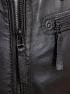 mens simon black hooded leather jacket 4