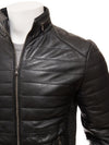 tobias black quilted leather jacket 3
