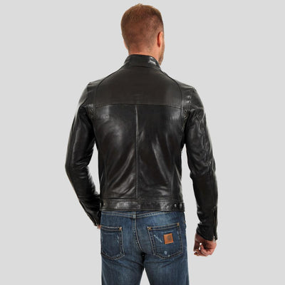 motorcycle leather jacket alan black 3