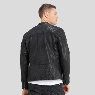 motorcycle leather jacket black charlie 2
