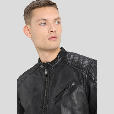 motorcycle leather jacket black charlie 3