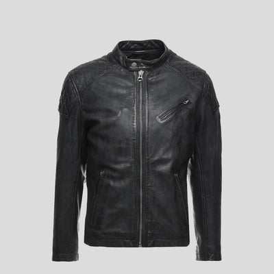 motorcycle leather jacket black charlie 4