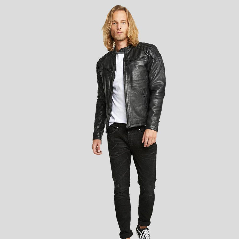 motorcycle leather jacket black derek 1