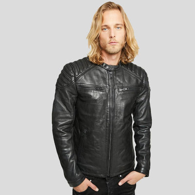 motorcycle leather jacket black derek 3