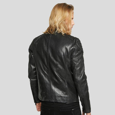 motorcycle leather jacket black derek 4