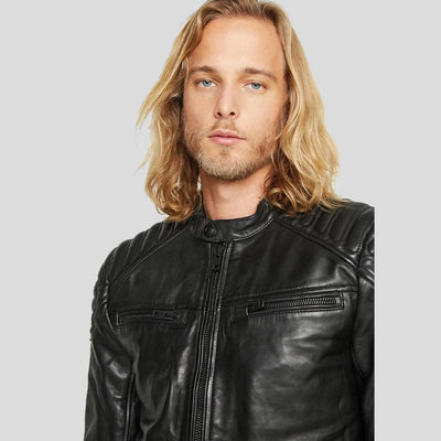 motorcycle leather jacket black derek 5