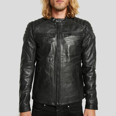 motorcycle leather jacket black derek 6