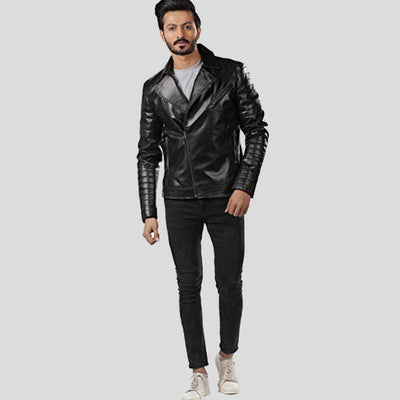motorcycle leather jacket black lukas 4