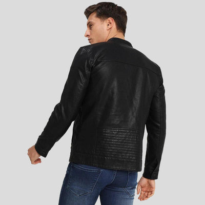 motorcycle leather jacket black riley 5